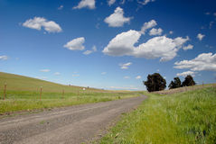 One Lane Gravel Road Stock Images
