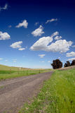 One Lane Gravel Road Royalty Free Stock Photo