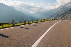 One lane of road, Grimsel pass, Alps, Switzerland Stock Photography
