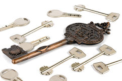 One large and a lot of different keys Royalty Free Stock Photo