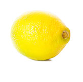 One large ripe lemon Royalty Free Stock Photo