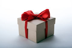 One large writing-paper gift box on a white Stock Photography