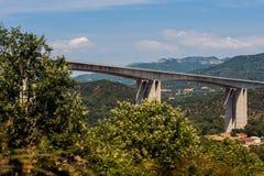 One of the largest bridges of Egnatia motorway, close to Ioannina town, Epirus. Greece Royalty Free Stock Image