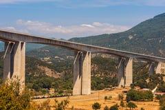 One of the largest bridges of Egnatia motorway, close to Ioannina town, Epirus. Greece Stock Image