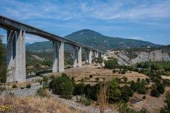 One of the largest bridges of Egnatia motorway, close to Ioannina town, Epirus. Greece Royalty Free Stock Photos