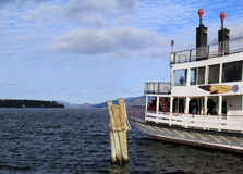 One of the last steam paddle wheelers in America, The Minni Ha Ha,Lake George,Ny,2014 Stock Images
