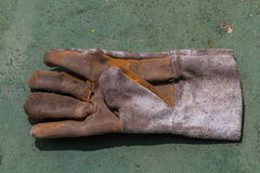 One left hand working glove. Royalty Free Stock Images
