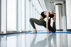 yoga pigeon pose stock photos  royalty free images