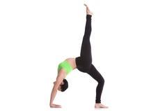 One-legged Upward Bow Pose Royalty Free Stock Photos