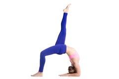 One-legged Upward Bow Pose Stock Photos