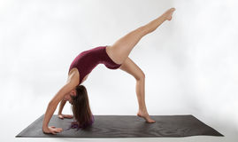 One Legged Wheel Pose Variation Stock Images