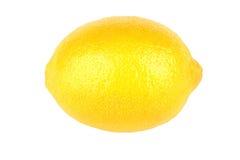 One lemon isolated on a white bg Royalty Free Stock Images