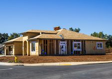 One Level Home Under Construction stock photography