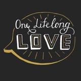 One lifelong love card. Modern calligraphy. Ink illustration Stock Image