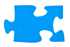 One light blue paper piece of jigsaw puzzle Stock Photo