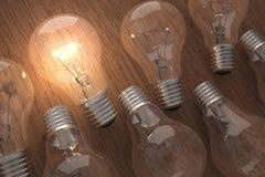 One Light, One Idea Stock Photo