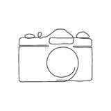 One line drawing. stock illustration