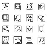 One line Icon Stock Photo