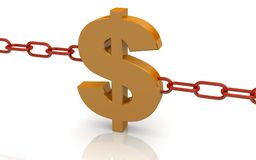 Instead of one link in the chain of dollar Stock Photos