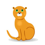 One lion on a white background Royalty Free Stock Photography