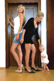 One little child and two women Royalty Free Stock Images