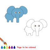 One little elephant. Page to be color Royalty Free Stock Photo
