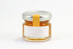 One Little glass jar wit lit Royalty Free Stock Photography
