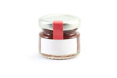 One Little glass jar wit lit Stock Photos