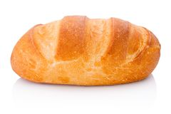One loaf of bread isolated on white background. One loaf of bread isolated on a white background stock image
