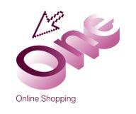 One Logo. Logo Design for Online Shopping website Royalty Free Stock Images