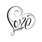 One Love Sign. Unique calligraphic vector tattoo love design Royalty Free Stock Images
