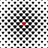 The only one loved - seamless heart pattern Stock Photos