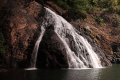 One of the lower tiers of Dudhsagar Falls Royalty Free Stock Photos