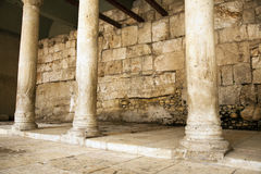Ancient Main Road in Jerusalem. This is one of the main market roads from 2000 years ago, in the old city of Jerusalem in Israel. Archeological excavations had Royalty Free Stock Images