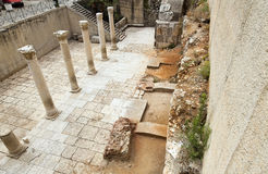 Ancient Main Road in Jerusalem Stock Images
