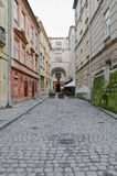 One of the main streets in Lvov - Armenian Street Stock Image