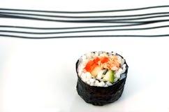 One Makizushi sushi fresh maki roll Royalty Free Stock Images