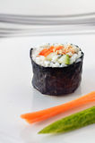 One Makizushi sushi fresh maki roll- Vertical Stock Photos
