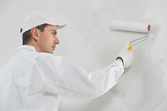 House painter at work Royalty Free Stock Photography