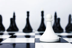 One man army. In chess Royalty Free Stock Photos
