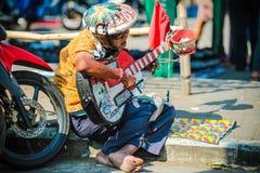 One man band in Malang Royalty Free Stock Photo