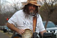 One Man Band in Mardi Gras Parade stock image