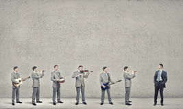 One man band Royalty Free Stock Image
