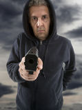 One man gangster Royalty Free Stock Photo