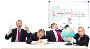 One man innovation process stock images