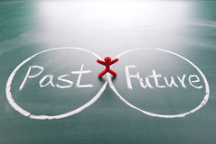 One man between past and future. Royalty Free Stock Photo