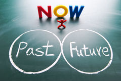 One man between past and future. Stock Images