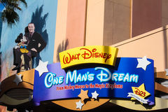 One Man's Dream, tribute to Walt Disney, Orlando, FL. Stock Images