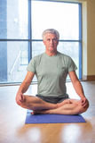 One man stretching Stock Image