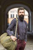 One man traveler Stock Photo